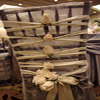ivory lace up wedding chivari chair cover